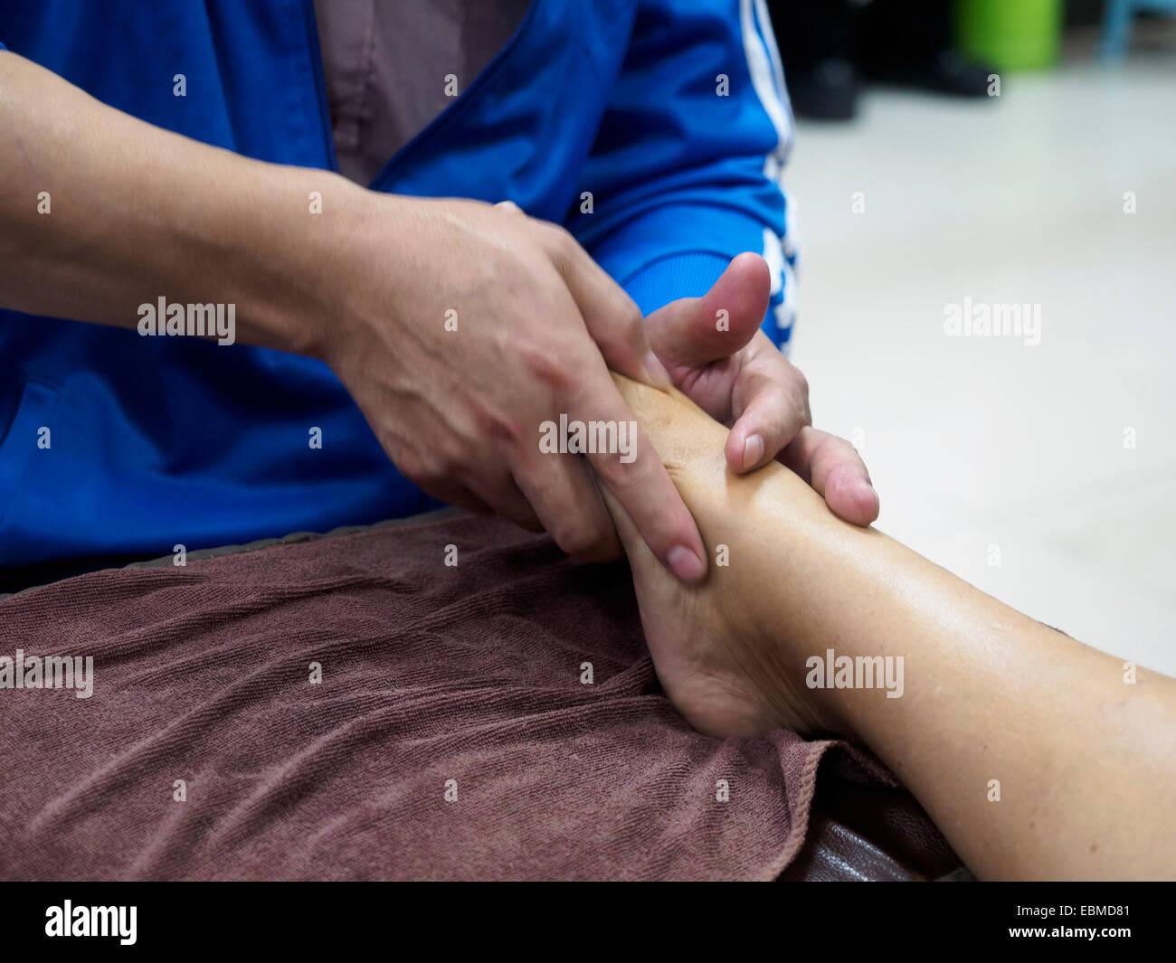 Foot massage - Stock Image
