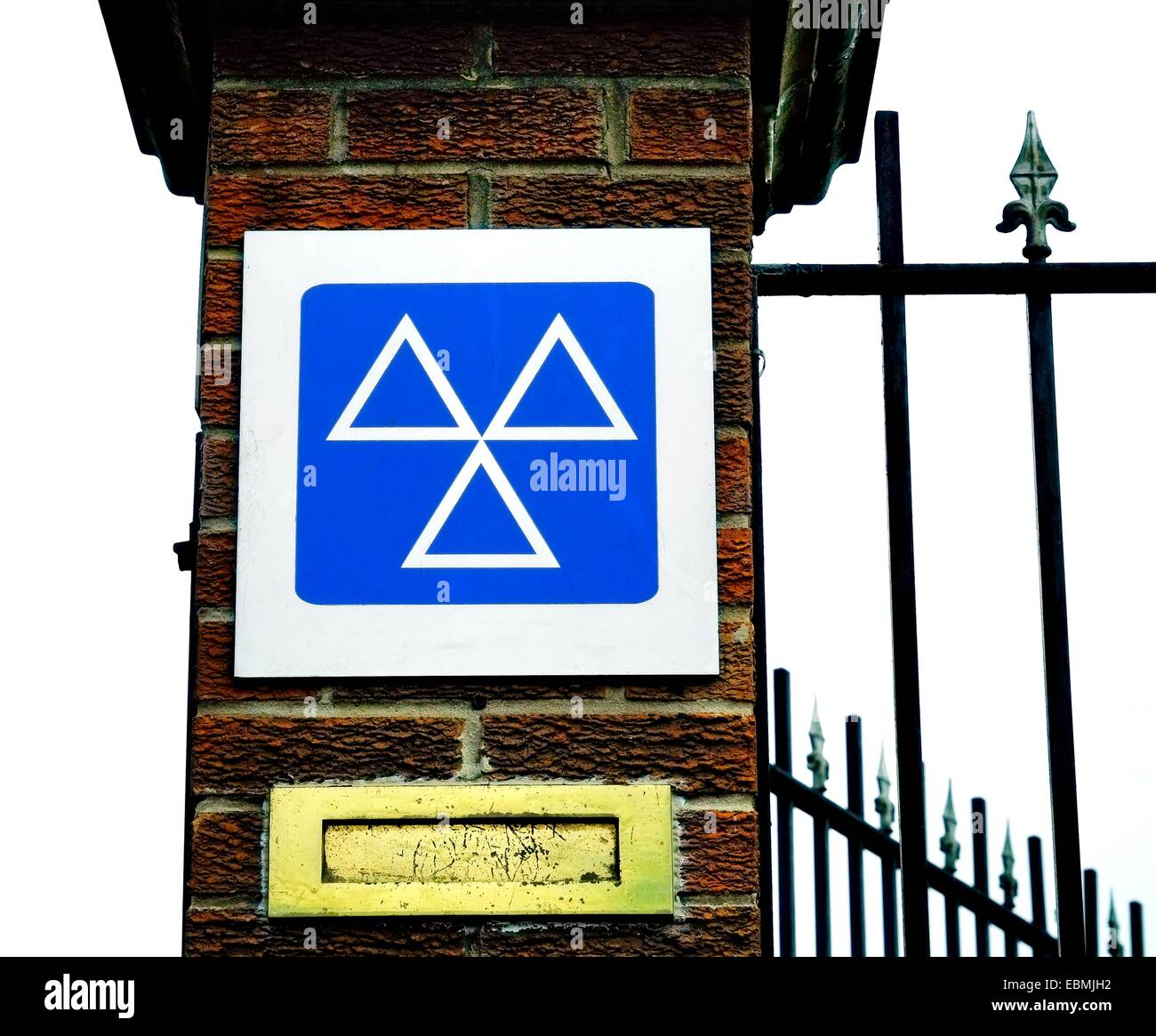 An MOT approved test centre sign England UK - Stock Image