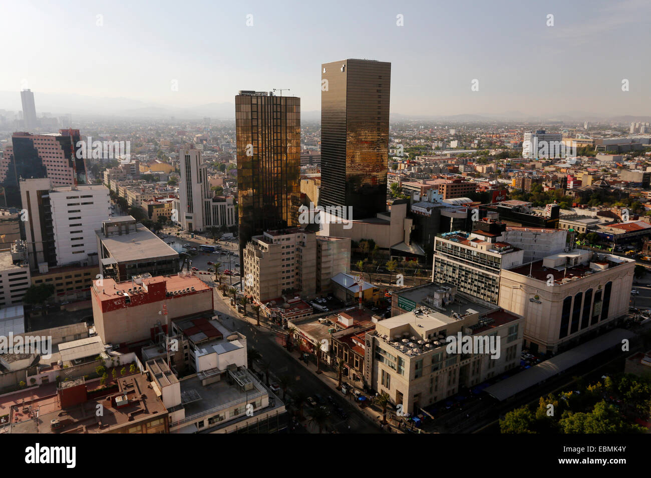 View over the inner city, Mexico City, Federal District, Mexico - Stock Image