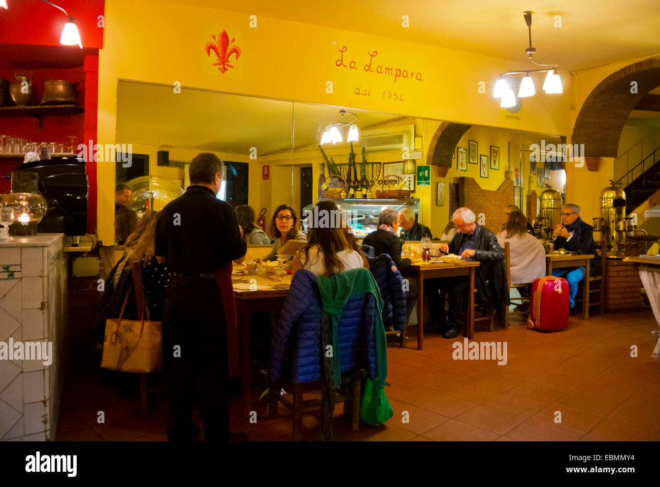 Traditional La Lampara pizzeria, central Florence, Tuscany, Italy - Stock Image