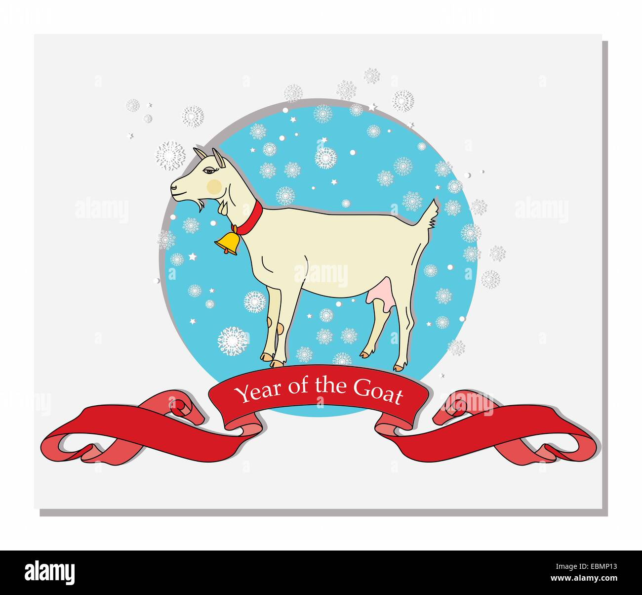 year of the Goat - Stock Image