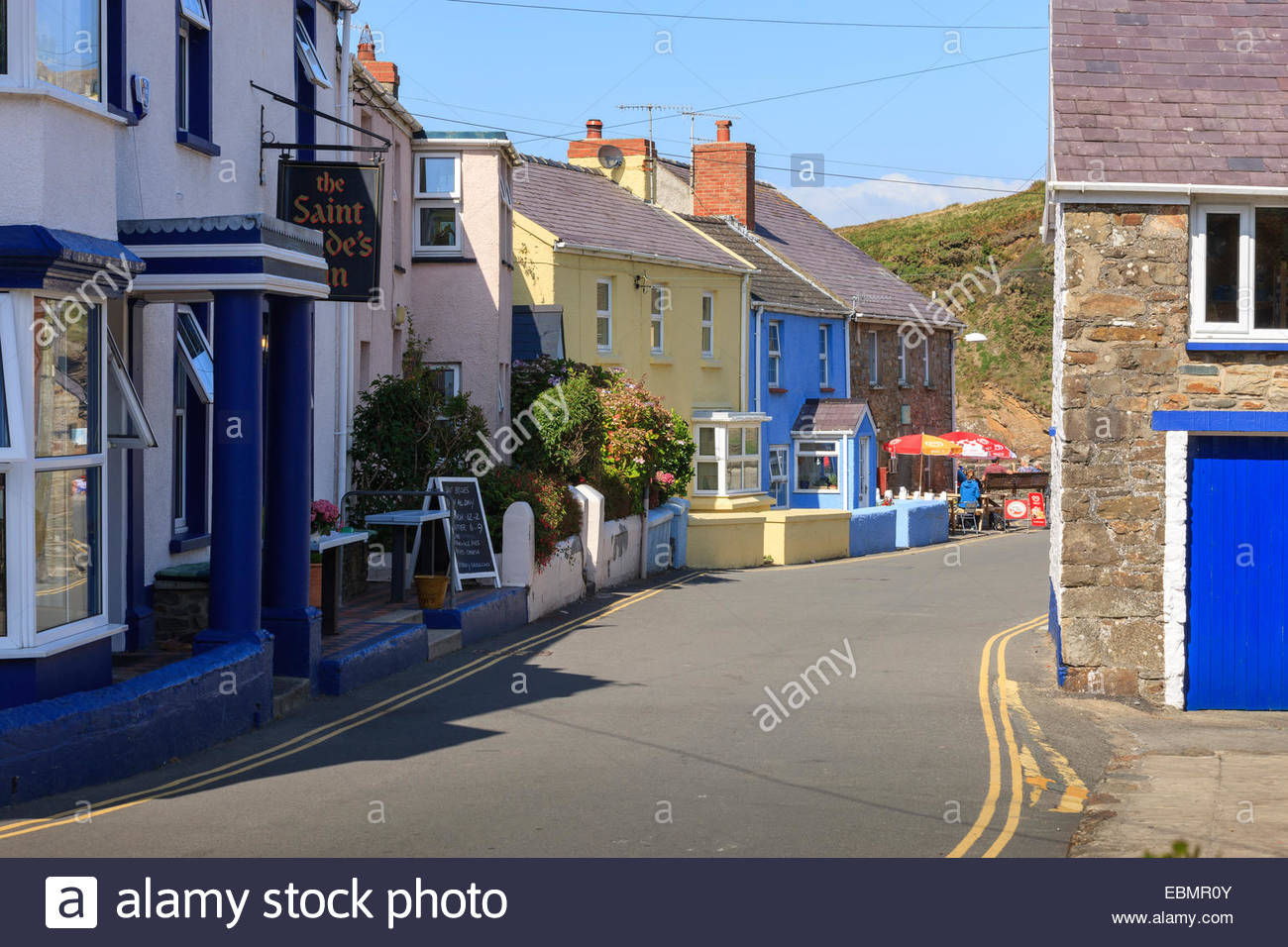 Little Haven Haverfordwest St Brides Bay  Pembrokeshire Wales - Stock Image