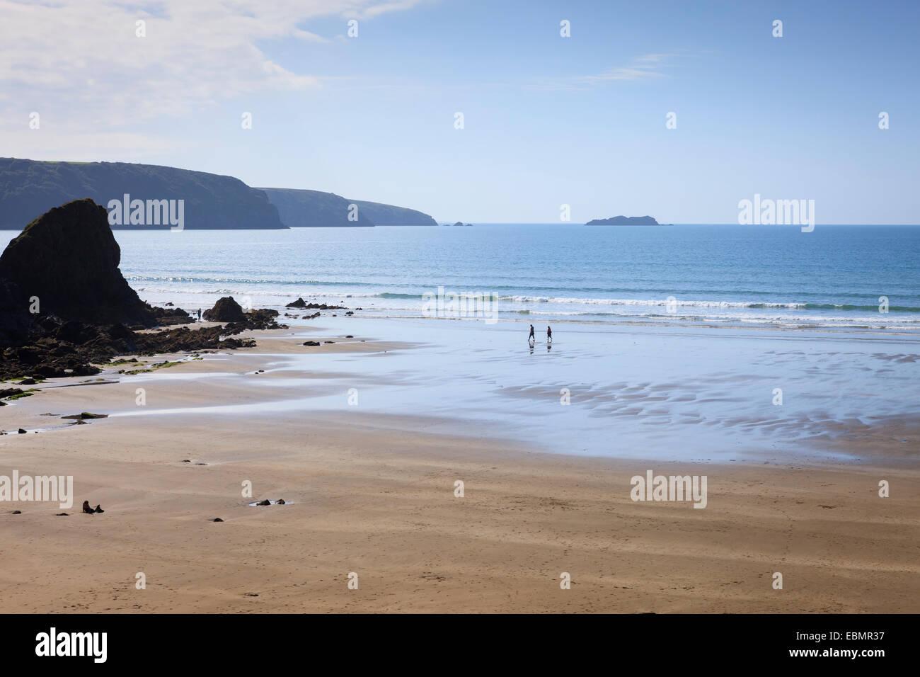 Broad Haven Haverfordwest St Brides Bay  Pembrokeshire Wales - Stock Image