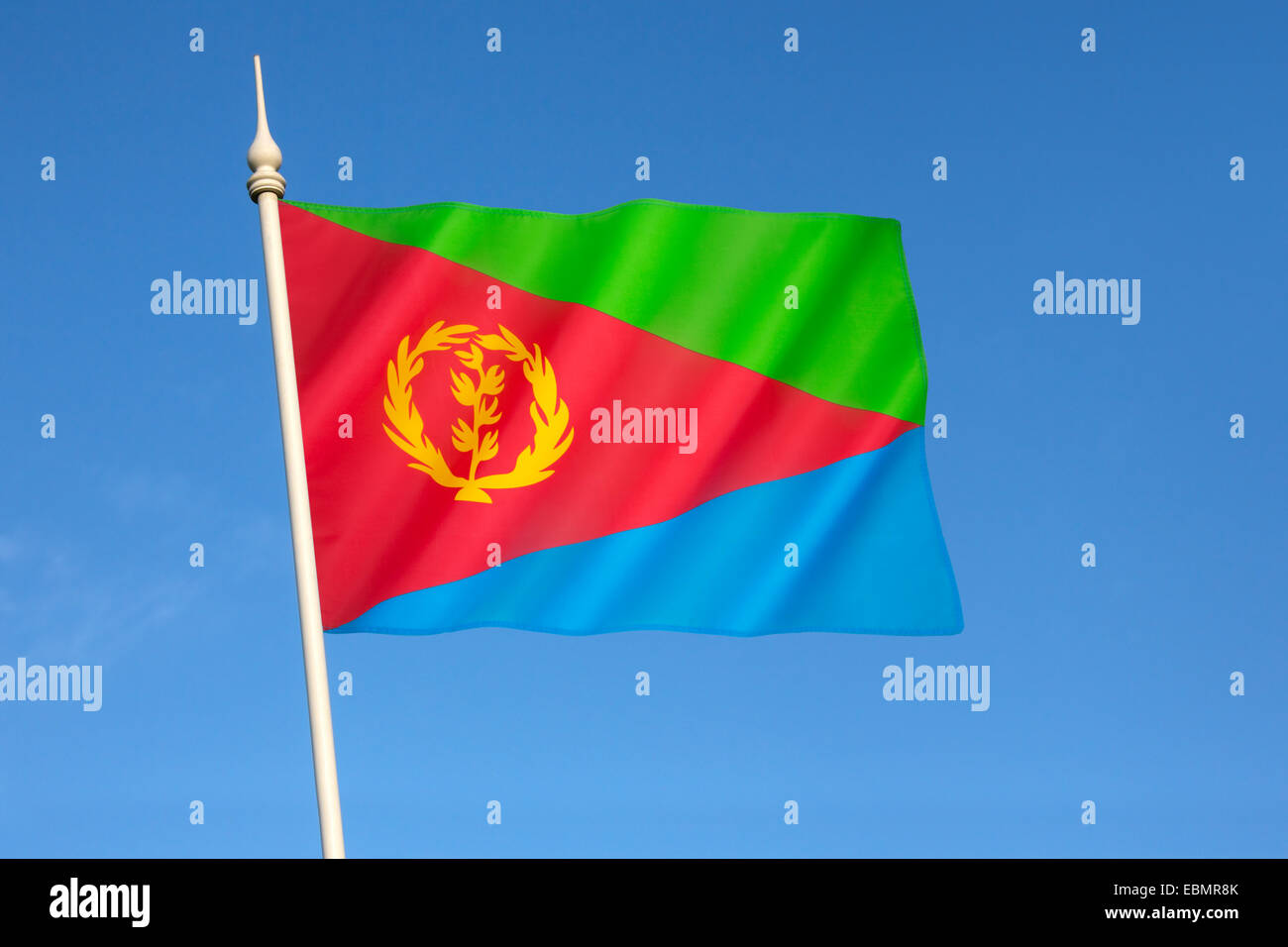 Flag of Eritrea - adopted on 5th December 1995. - Stock Image