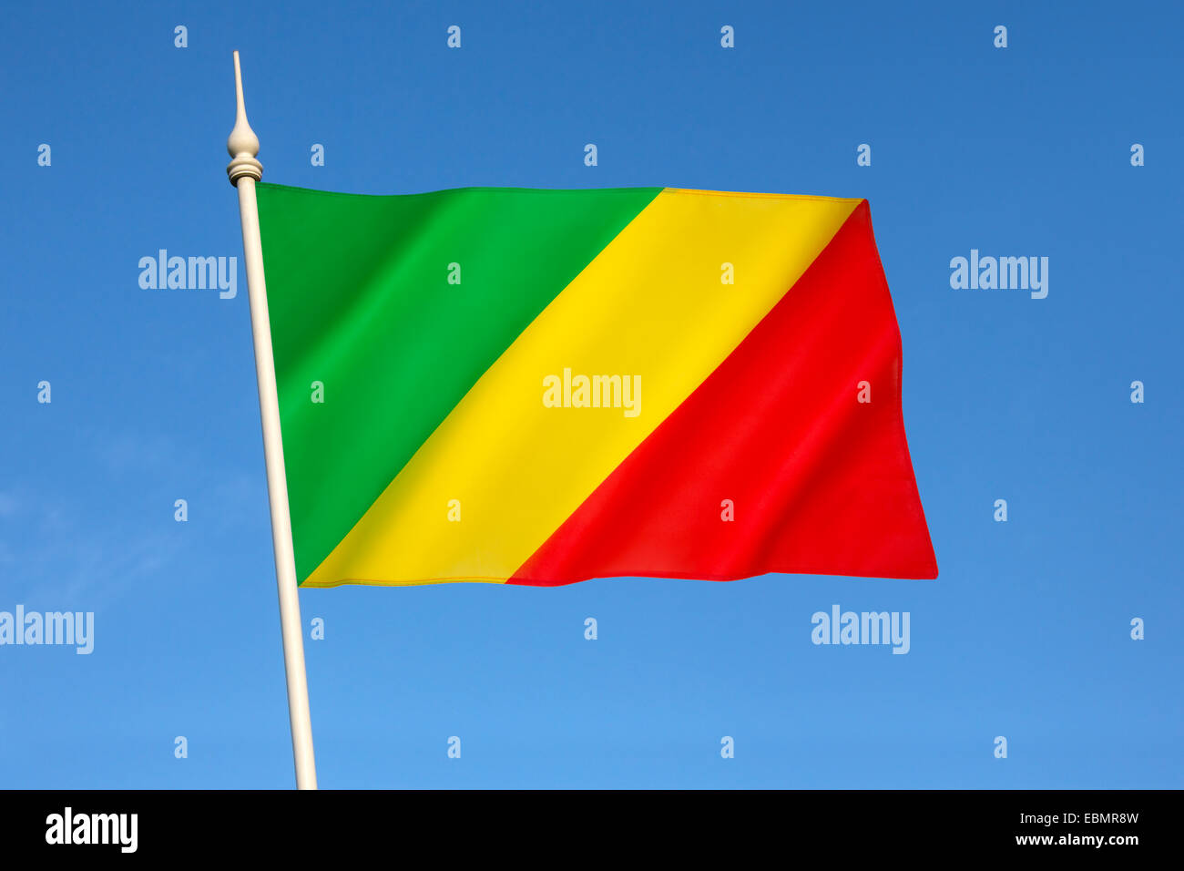 Flag of the Republic of the Congo - Stock Image