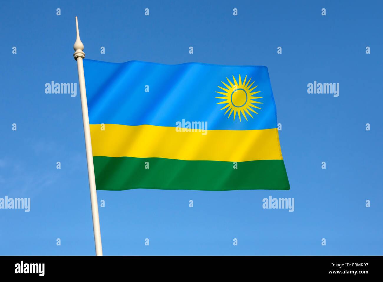 Flag of Rwanda - Stock Image