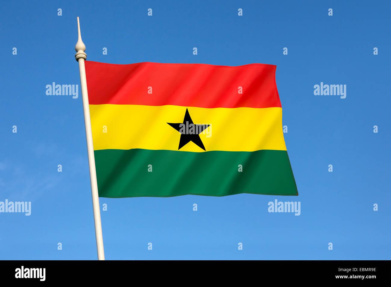 The flag of Ghana - Stock Image