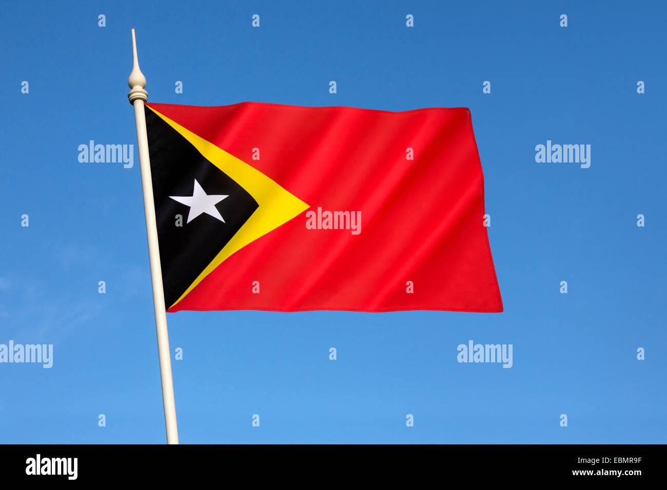 Flag of the Democratic Republic of Timor-Leste - Stock Image