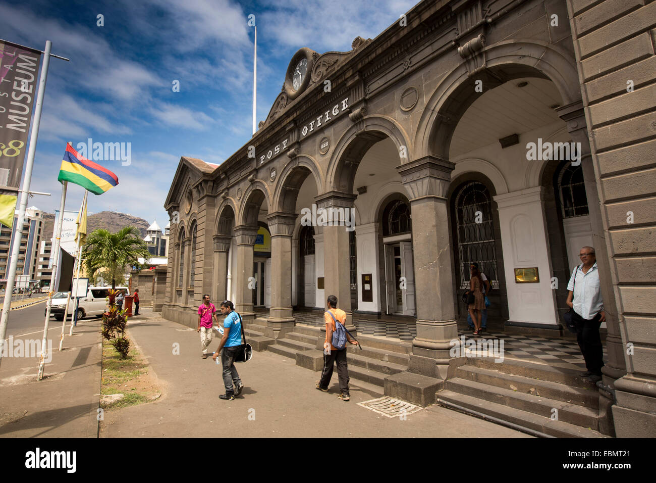 Mauritius, Port Louis, Caudon Waterfront, historic colonial era Head Post Office building and Postal Museum - Stock Image