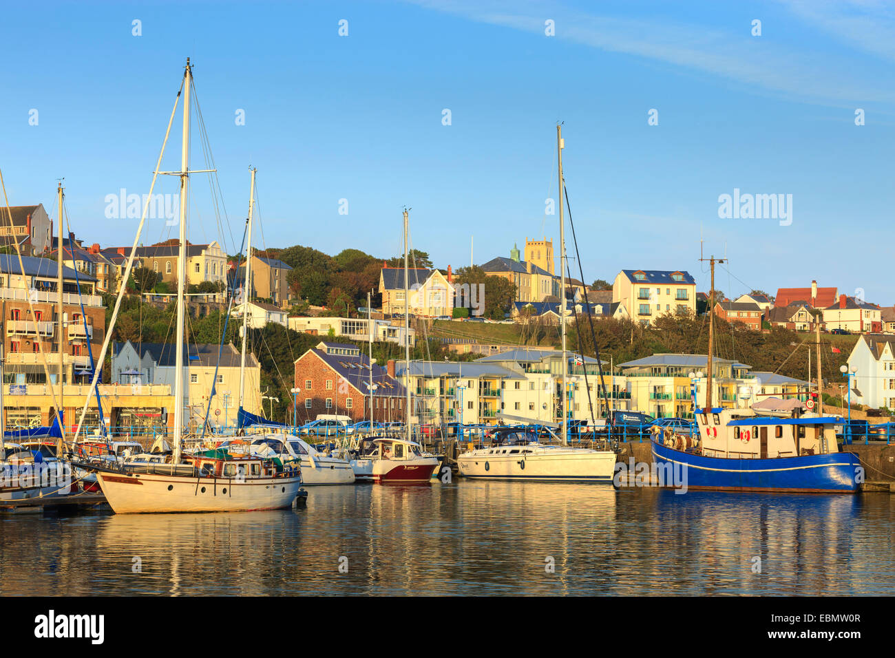 Milford Haven Pembrokeshire Wales - Stock Image