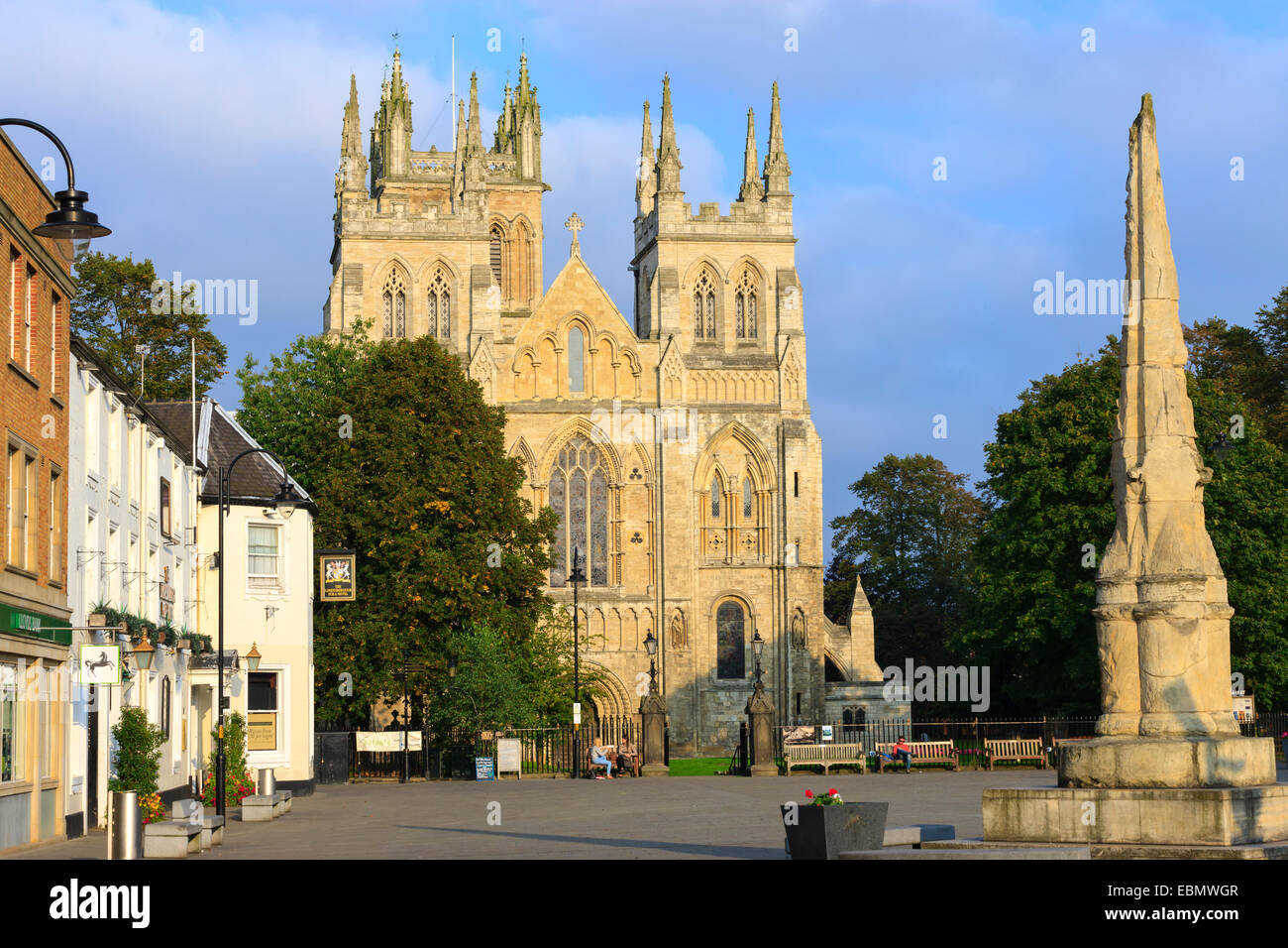 Selby Abbey Selby North Yorkshire England - Stock Image