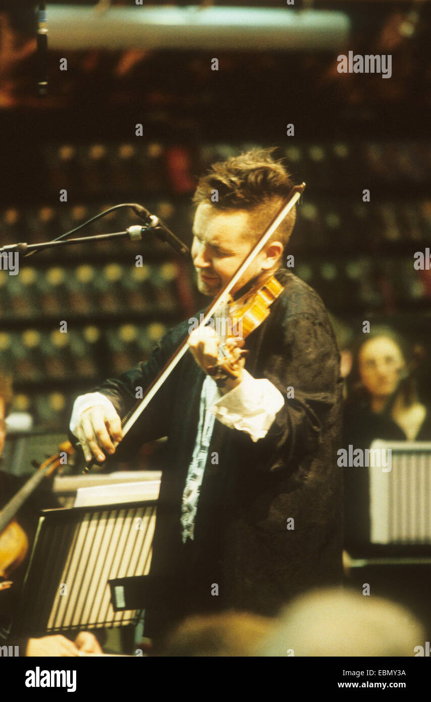 NIGEL KENNEDY English violinist about 1988 - Stock Image