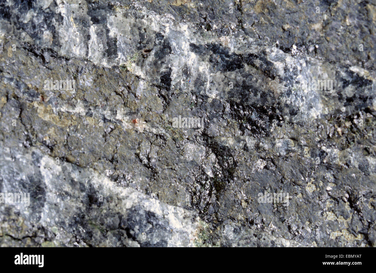 banded magnetic ore, Sweden - Stock Image