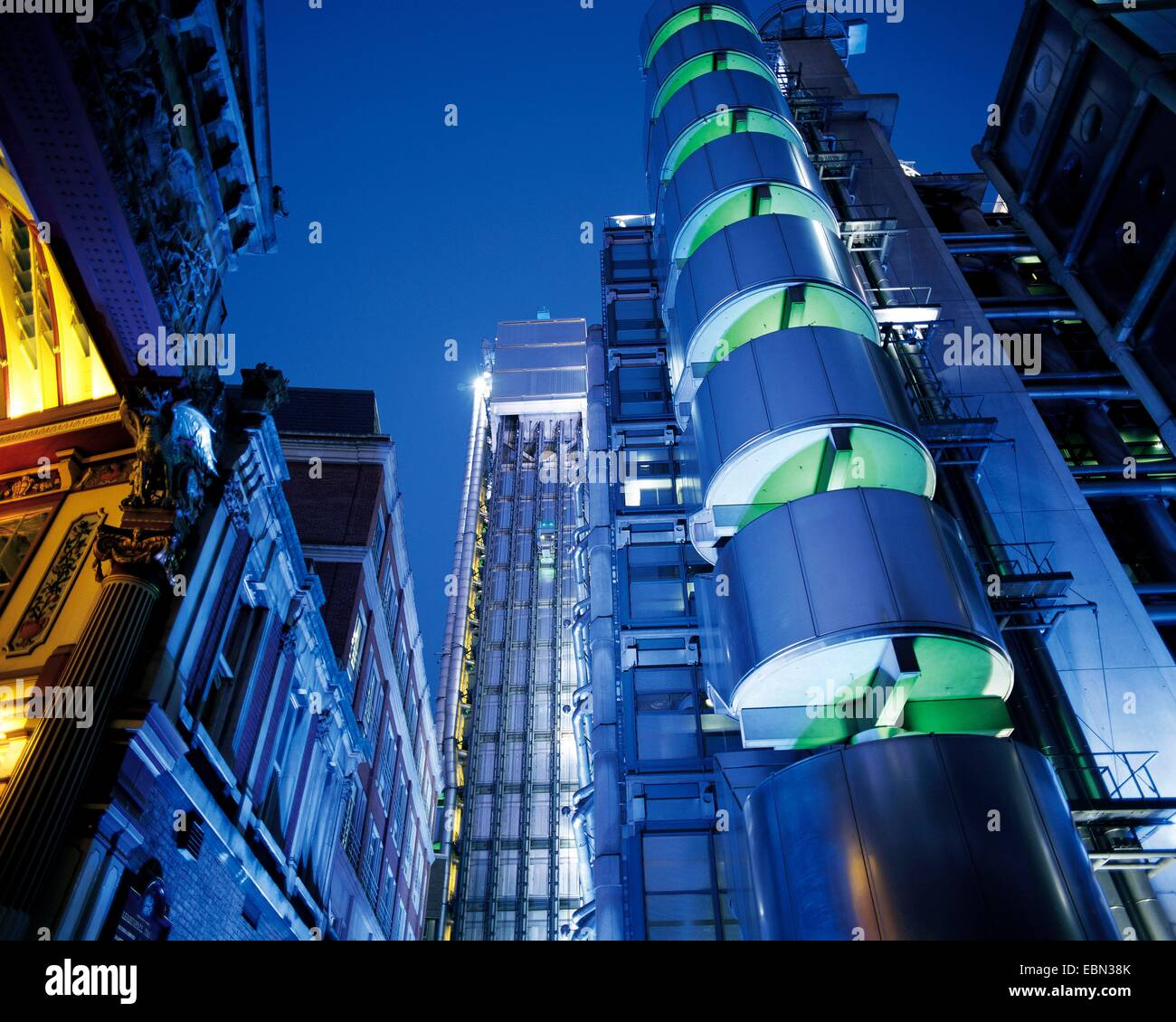 Lloyds Insurance Headquarter in London, United Kingdom, London - Stock Image