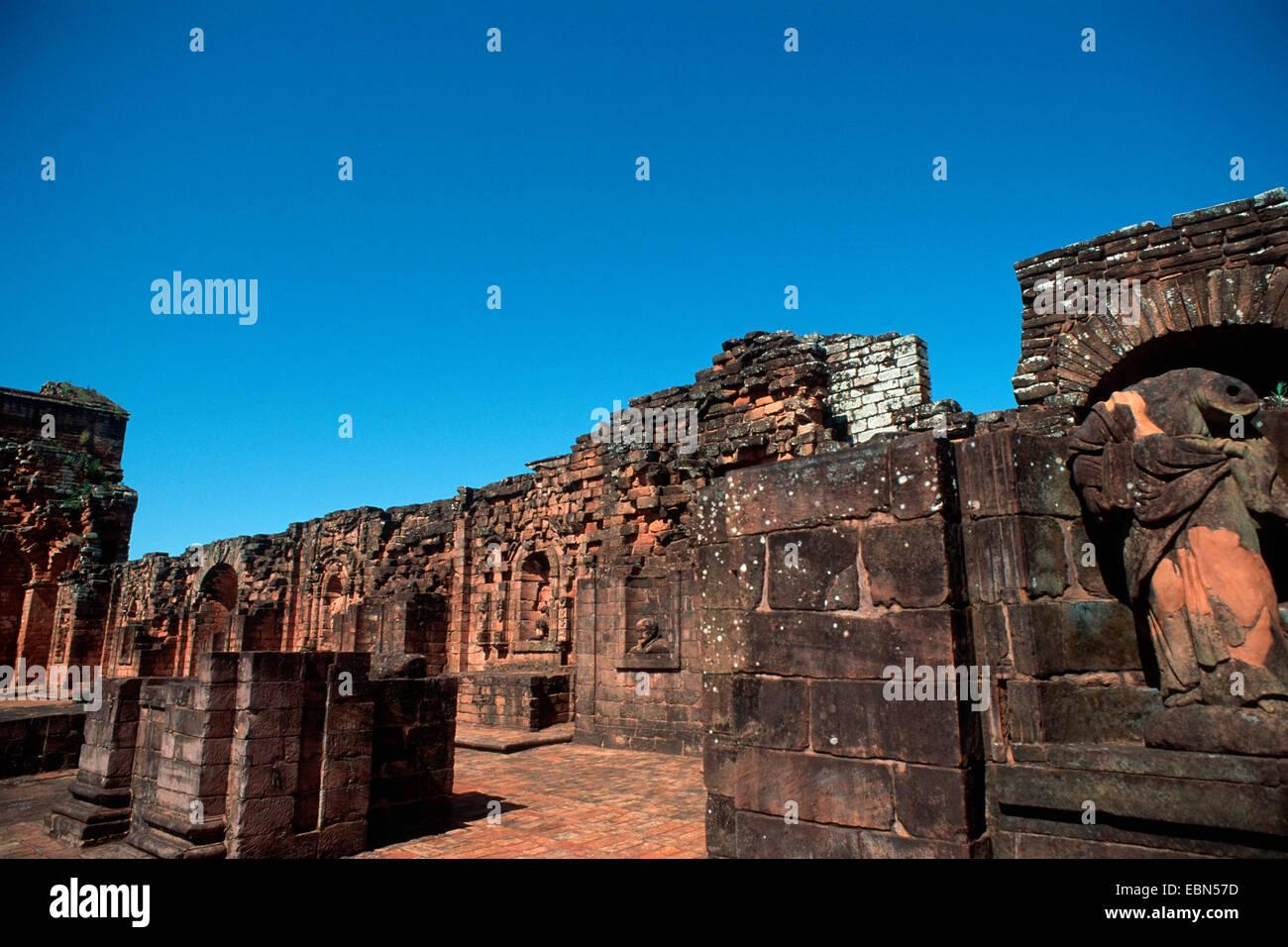 Iglesia Major, ruine, Paraguay, Trinidad - Stock Image