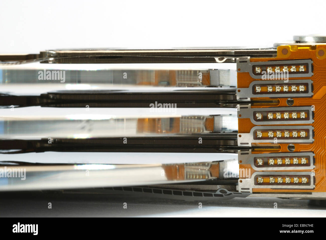 platters of hard disk drive - Stock Image