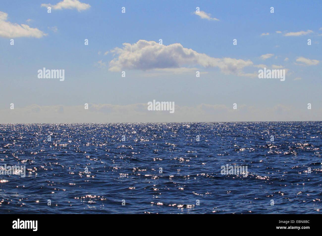 view to Atlantic Ocean, Canary Islands, Gran Canaria - Stock Image