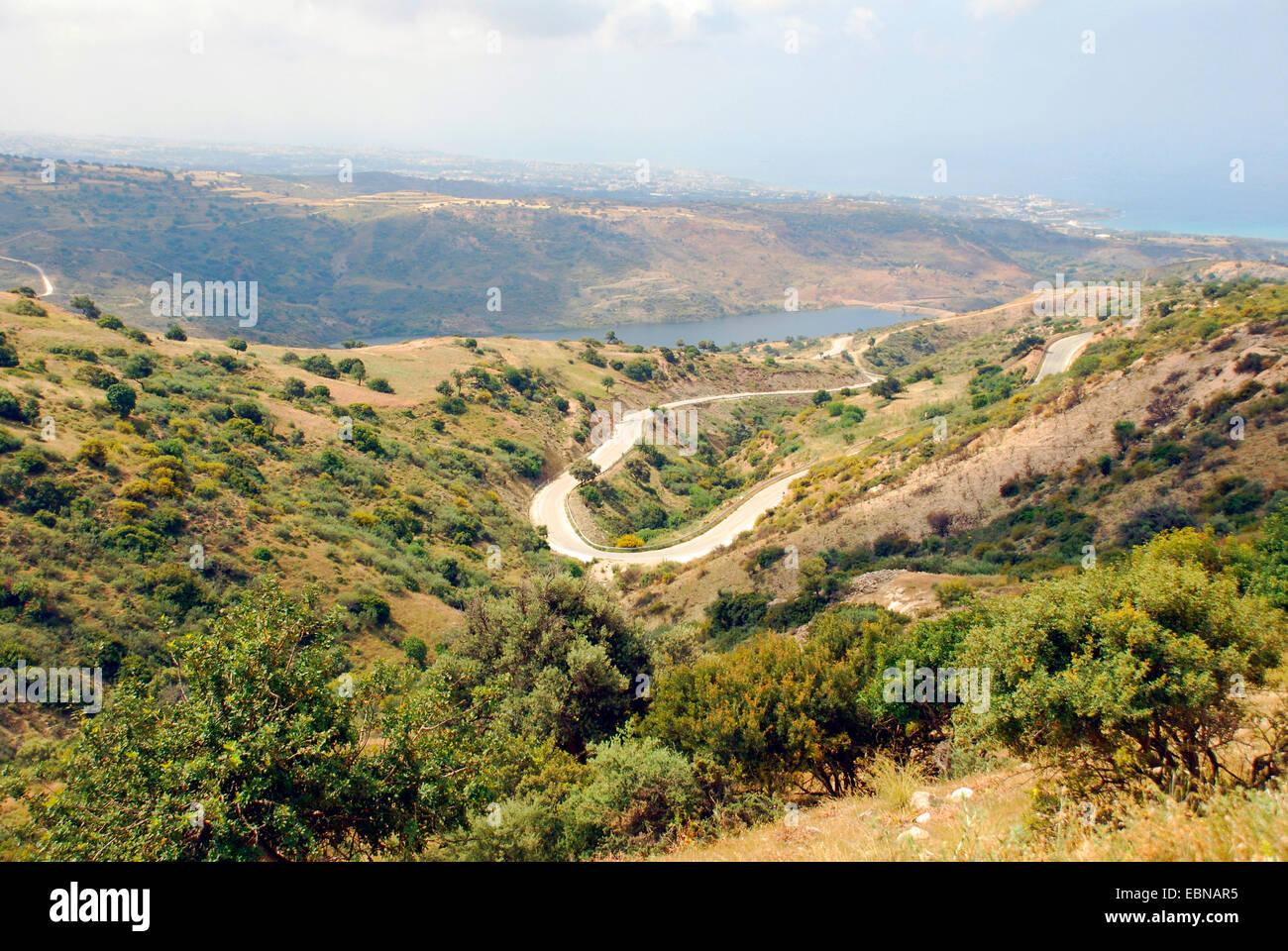 Macchia near Akoursos, Cyprus, Paphos, Mavrokolymbos Staudamm, Akoursos - Stock Image