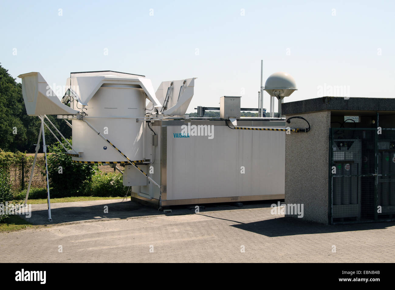 launcher for meteorological balloon, Germany - Stock Image