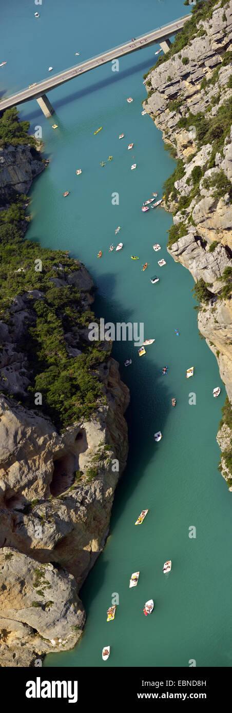 The great canyon of Verdon river near lake Lac de Sainte-Croix , France, Provence, Verdon Stock Photo