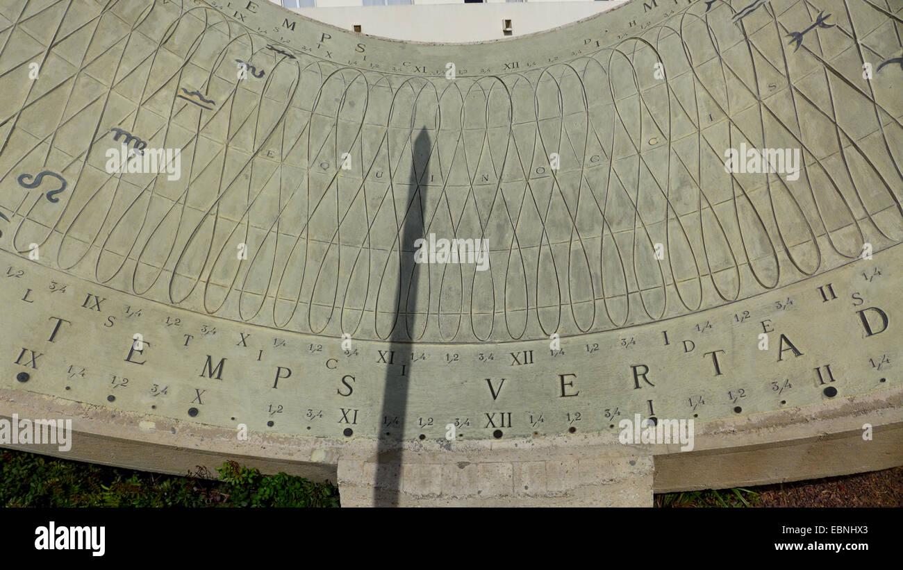 sundial, Spain, Balearen, Majorca, Palma - Stock Image