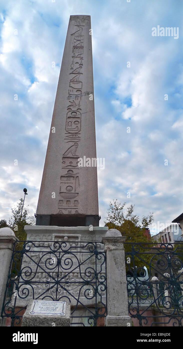 Obelisk of Theodosius, Turkey, Istanbul - Stock Image