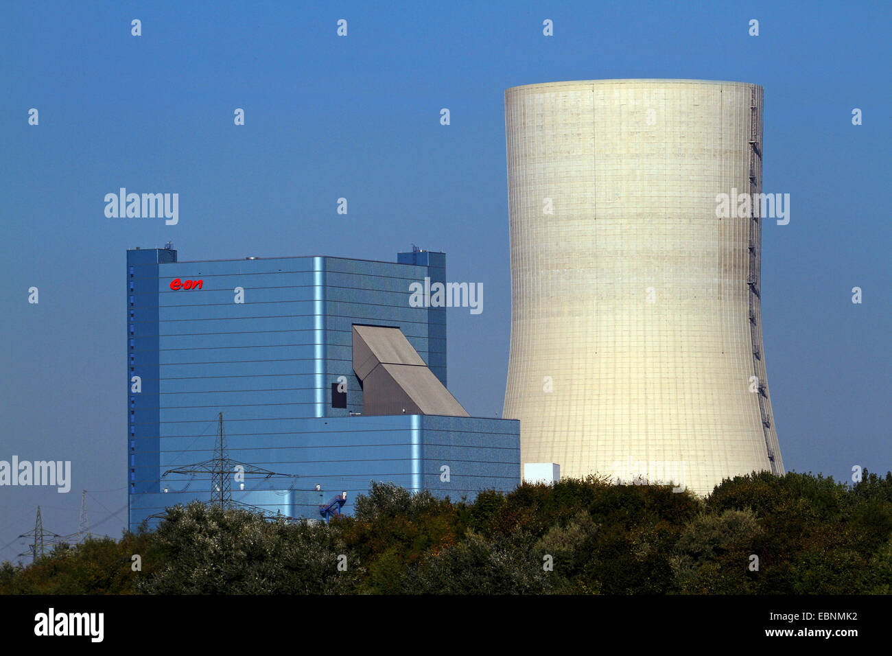 the legally controversial new building of the hard coal-fired power station Datteln 4, Germany, North Rhine-Westphalia, - Stock Image