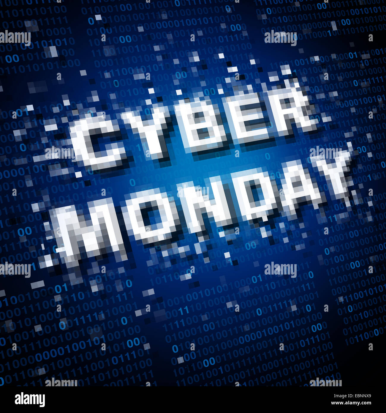 Cyber monday sale icon and marketing symbol as an online advertising sales concept for internet holiday celebrations. - Stock Image