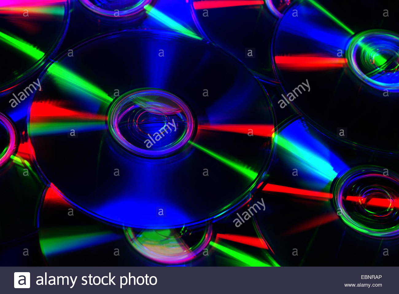 DVD, CD-ROM, Blu-ray Disc - Stock Image