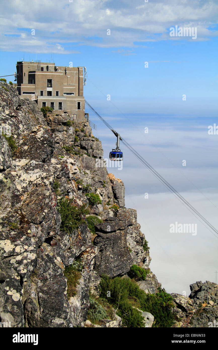the table mountain cableway, South Africa, Table Mountain National Park, Capetown - Stock Image