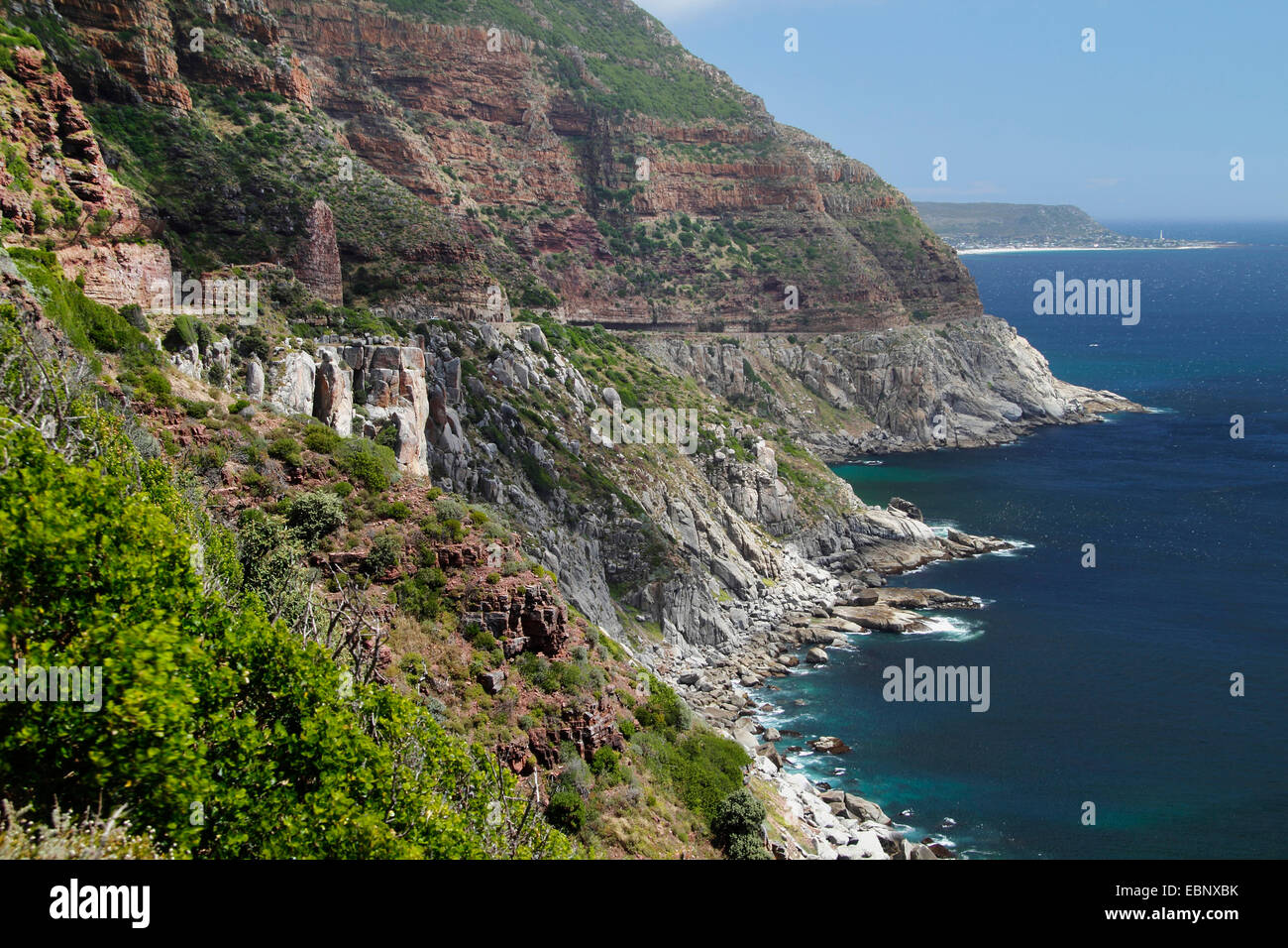 bold rocky coast Chapmans Bay, South Africa, Western Cape - Stock Image