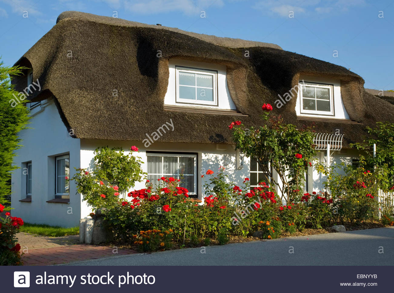 house with thatched roof stock photos house with thatched roof stock images alamy. Black Bedroom Furniture Sets. Home Design Ideas