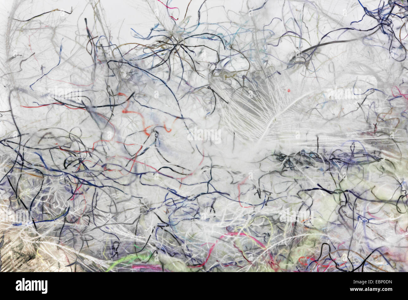 macro shot of dust of a bedroom - Stock Image