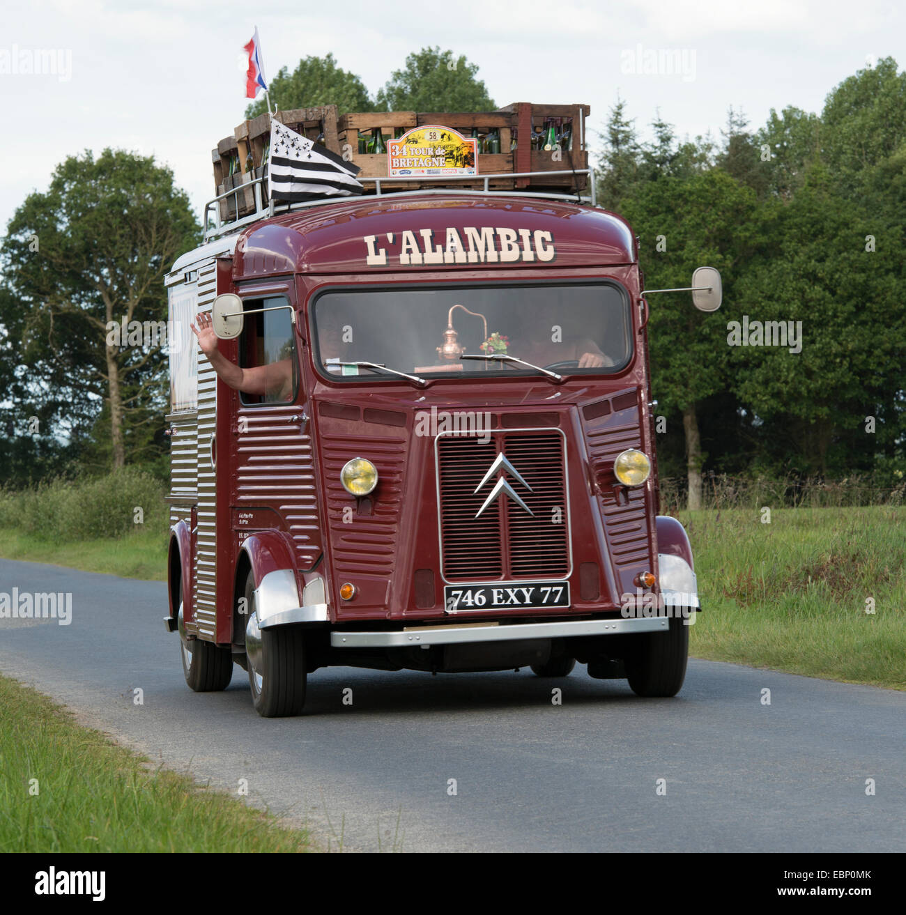 citroen hy fourgon alambic of 1969 in the tour de bretagne 2014 stock photo 76086211 alamy. Black Bedroom Furniture Sets. Home Design Ideas