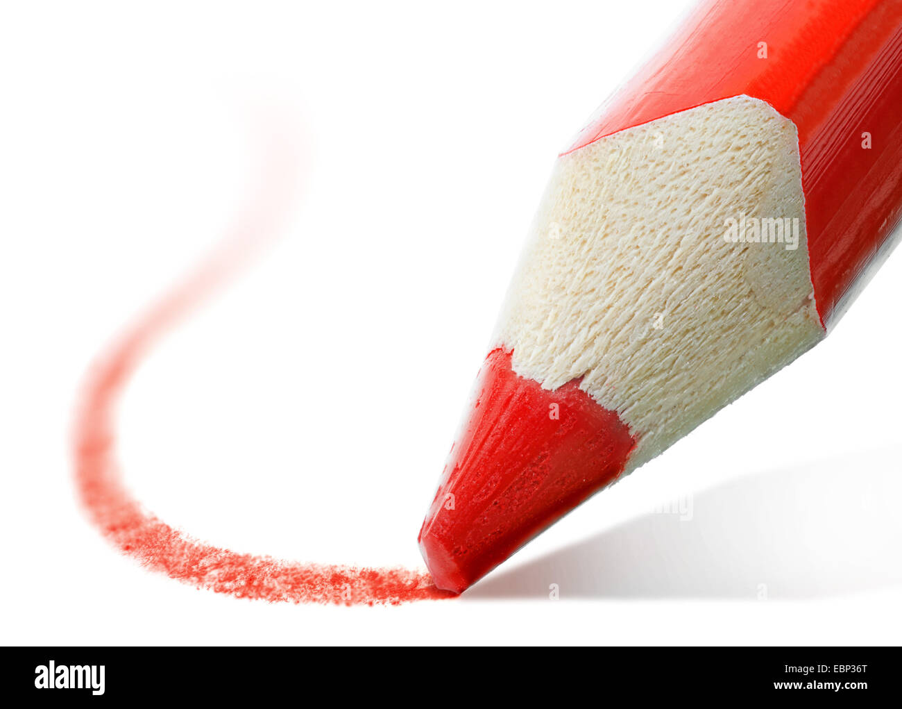 macro shot of the tip of a red pencil - Stock Image