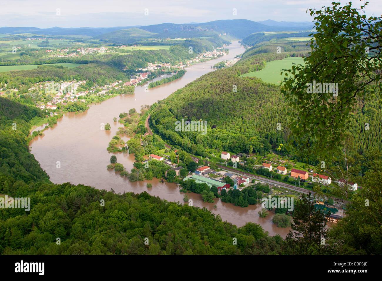 Elbe flood in summer 2013, Germany, Saxony Stock Photo