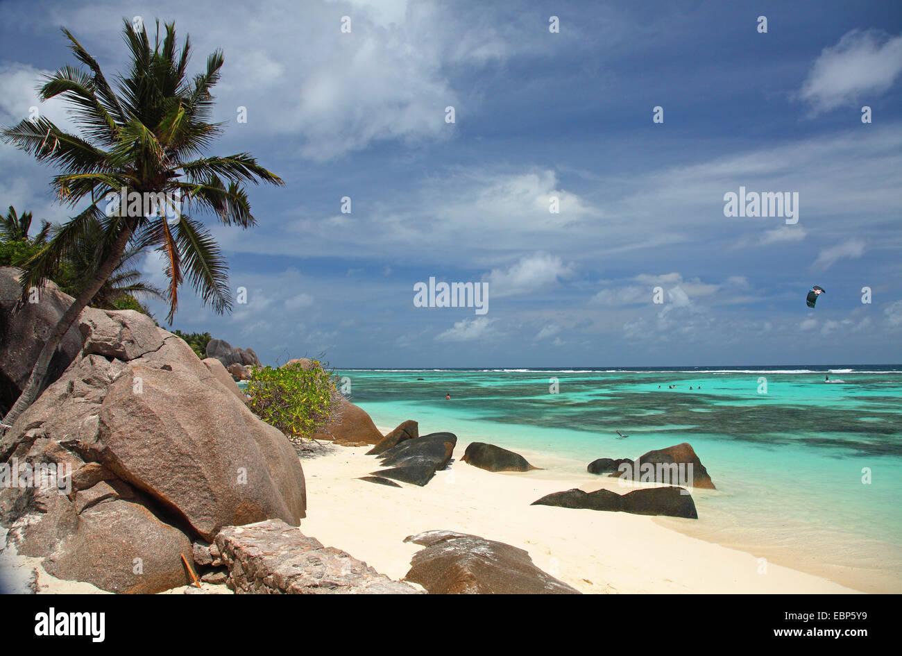 coast Anse Source d Argent, Seychelles, La Digue - Stock Image