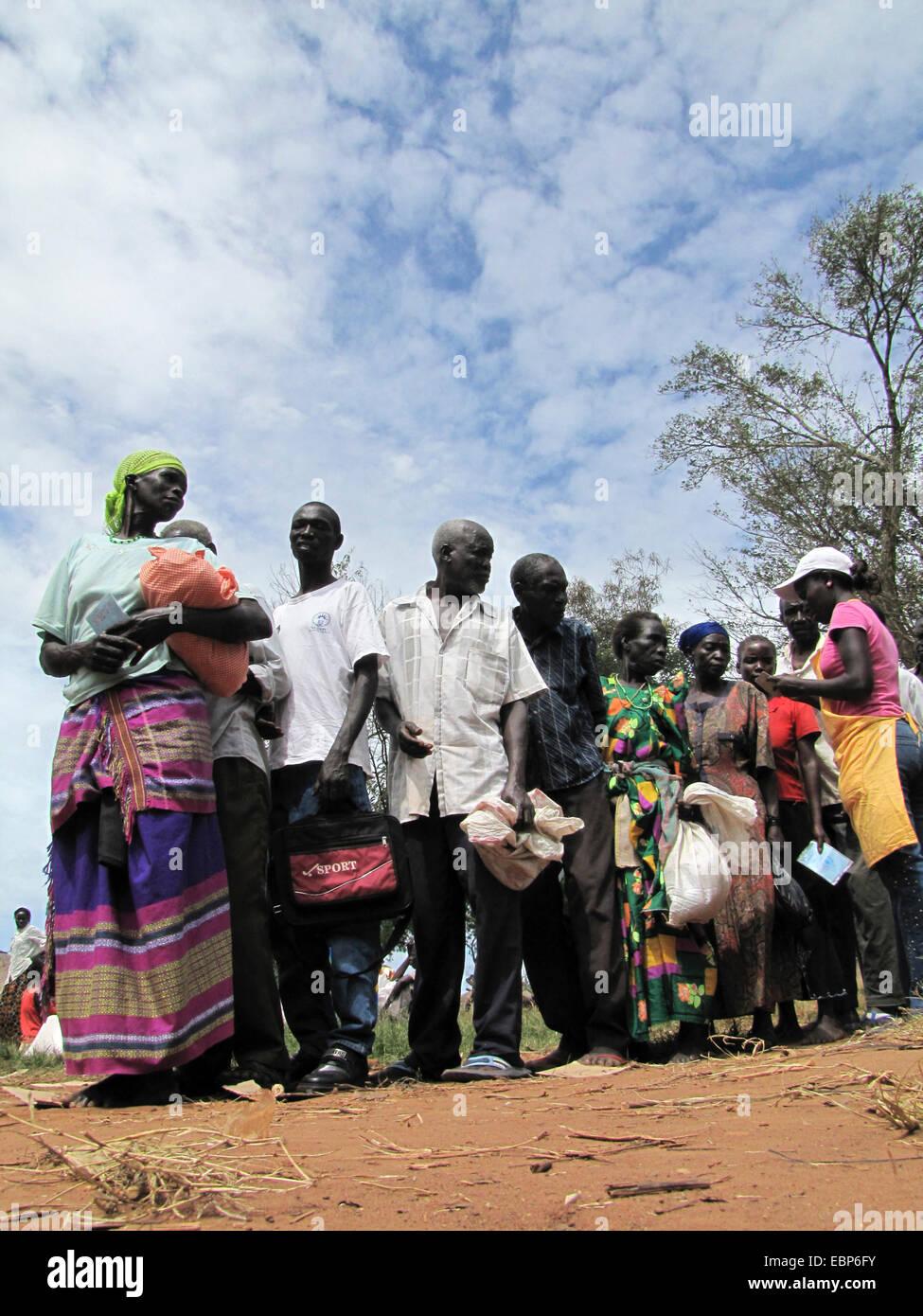 Refugee camp for internally displaced people in northern Uganda around Gulu, the non-governmental organisation 'Norwegian - Stock Image