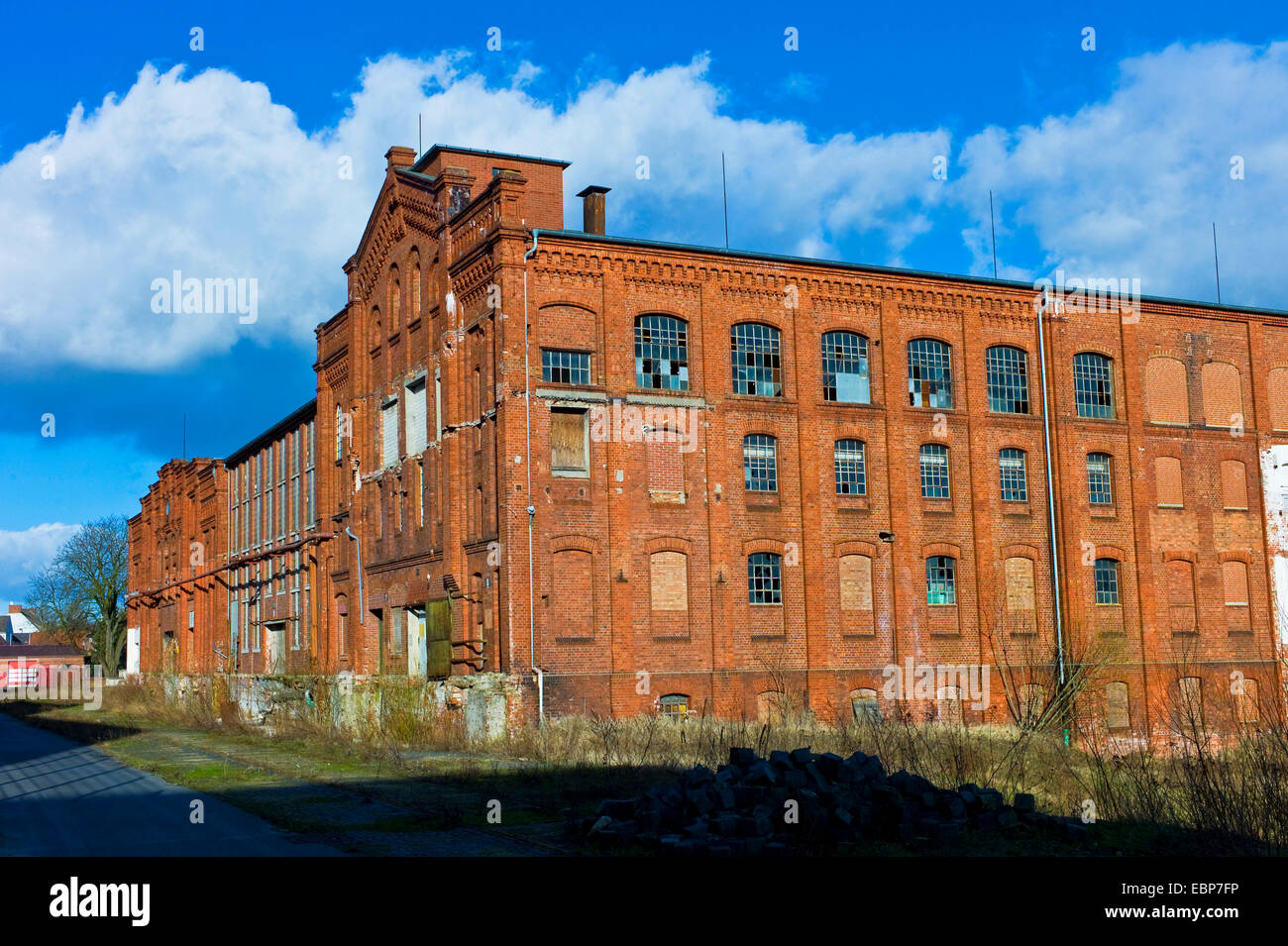 old factory building on Bremer Woll-Kaemmerei area, Germany, Bremen - Stock Image