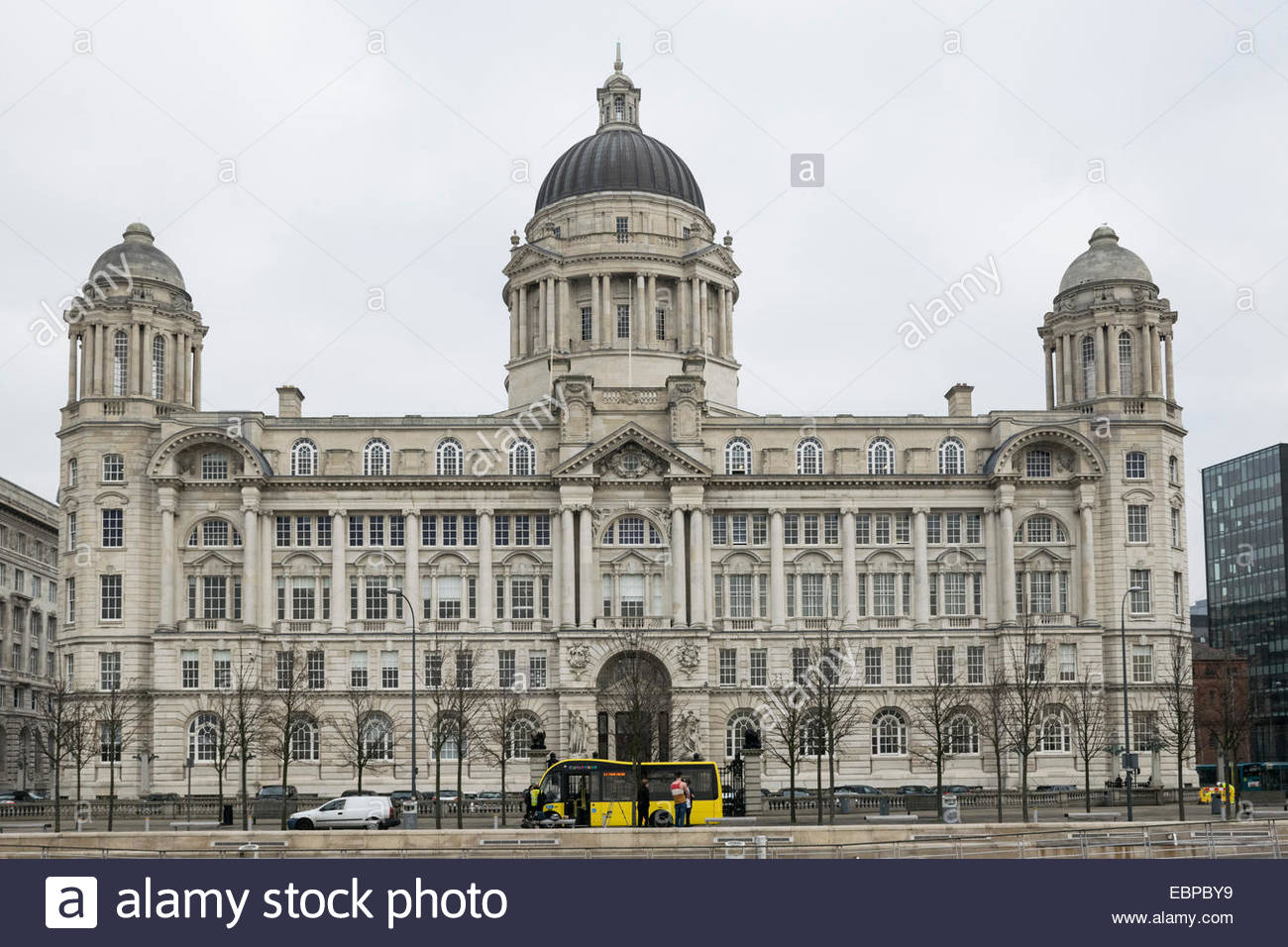 The Port of Liverpool Building by the River Mersey - Stock Image