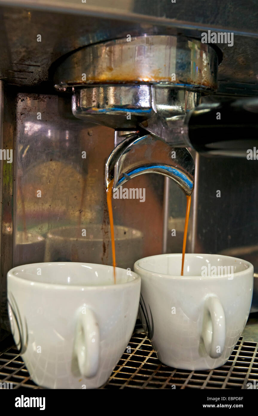Espresso Machine, Coffee making - Stock Image