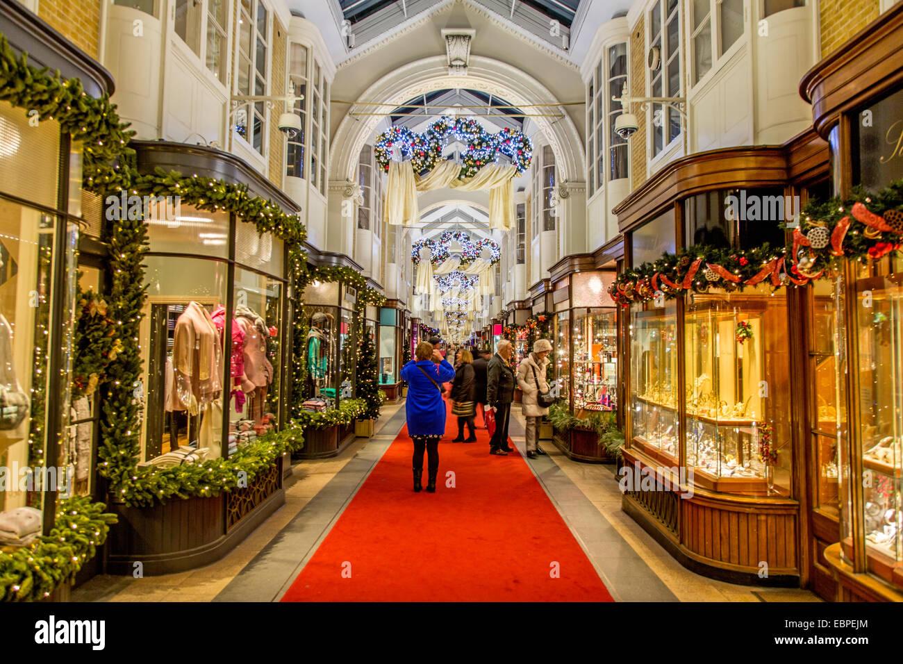 The Burlington Arcade at Christmas London UK - Stock Image