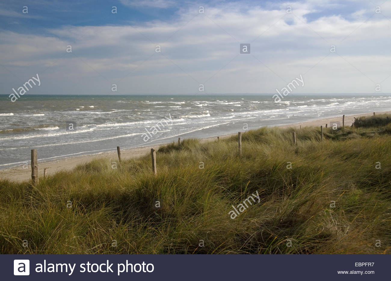 Utah Beach, site of American landing on June 6, 1944, Normandy, France Stock Photo
