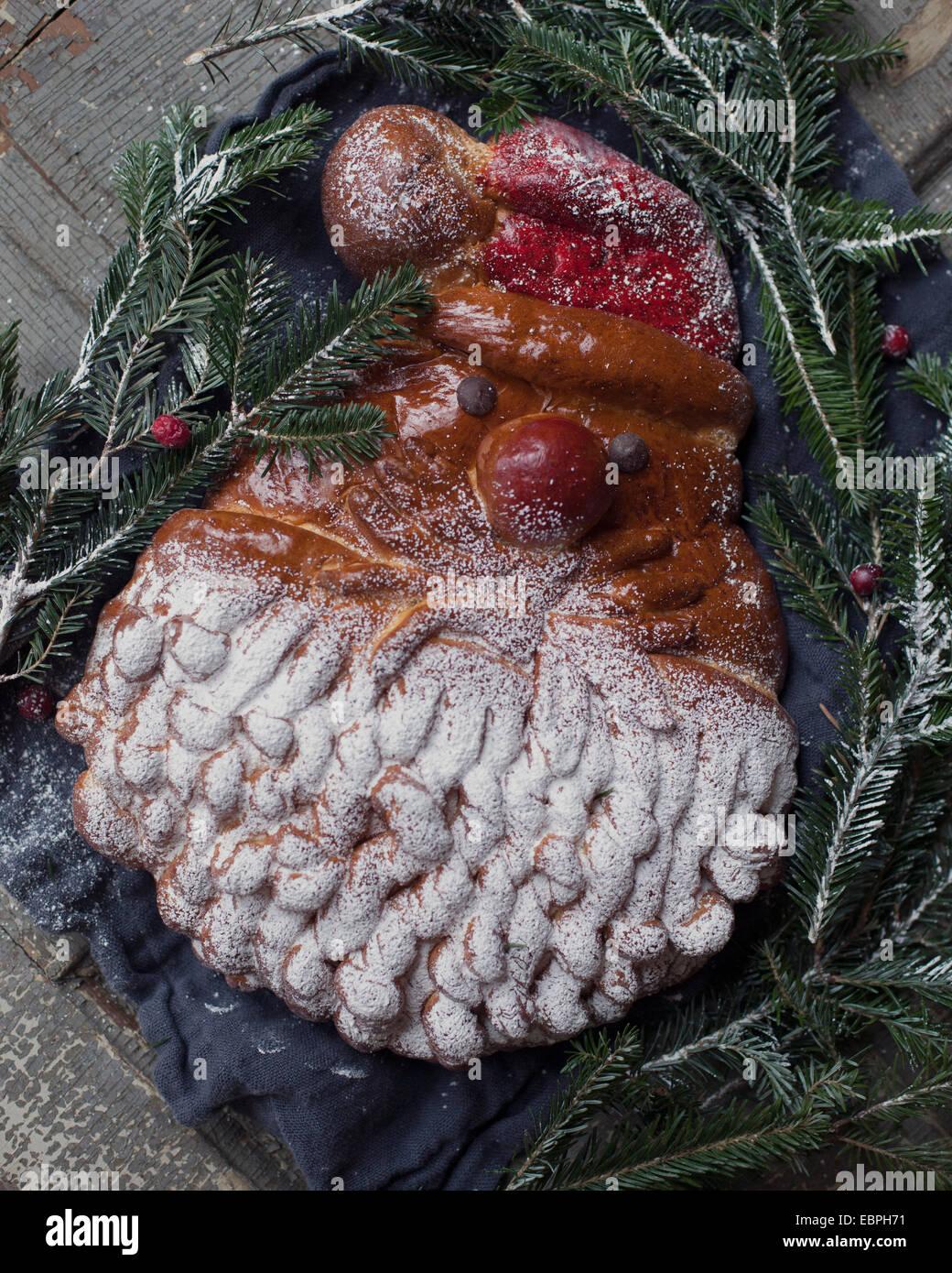 baked santa - Stock Image