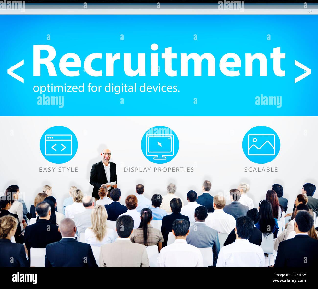 Business People Recruitment Web Design Concept - Stock Image