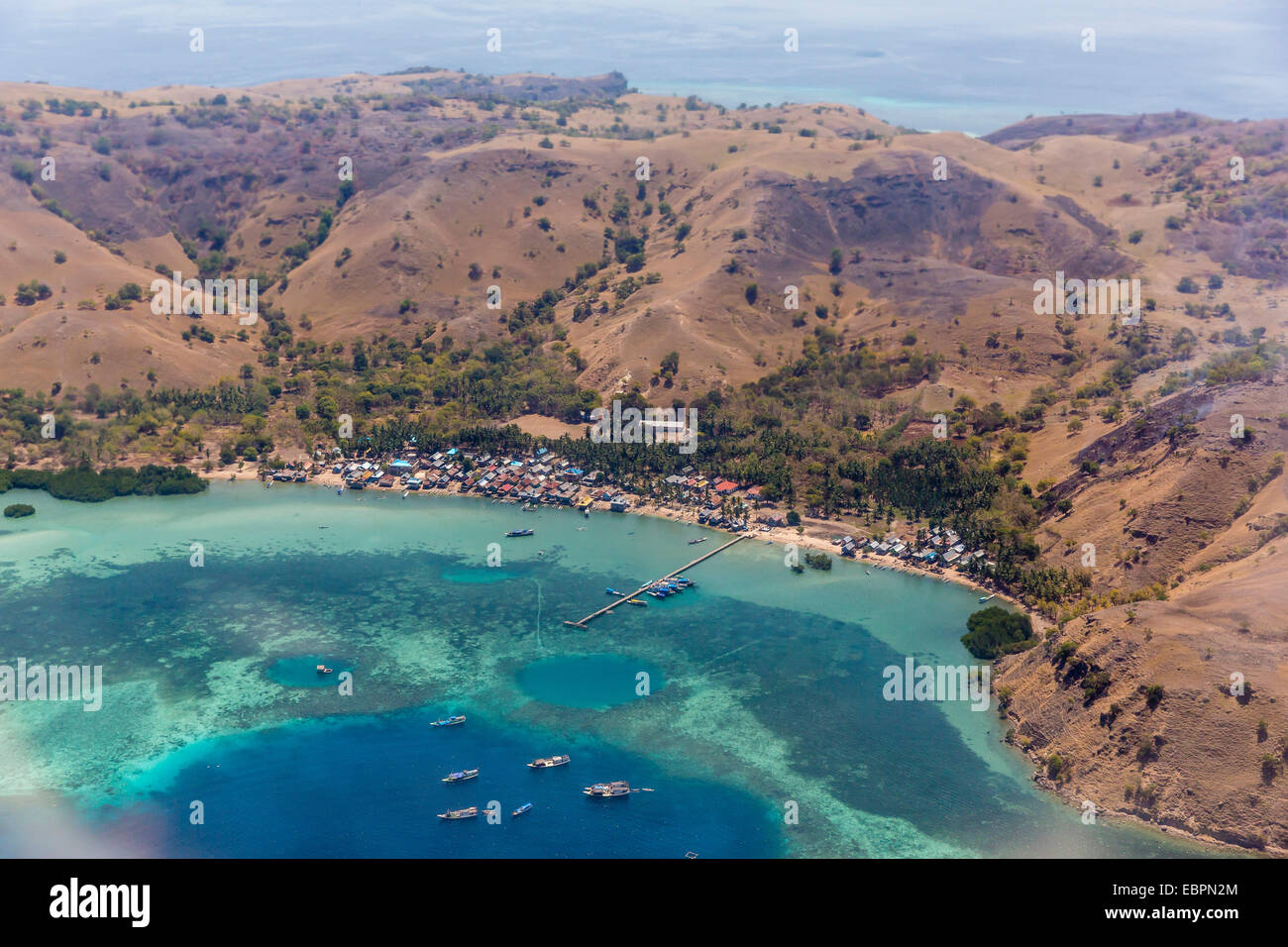 Harbor at Labuan Bajo, Flores Island, Indonesia, Southeast Asia, Asia - Stock Image
