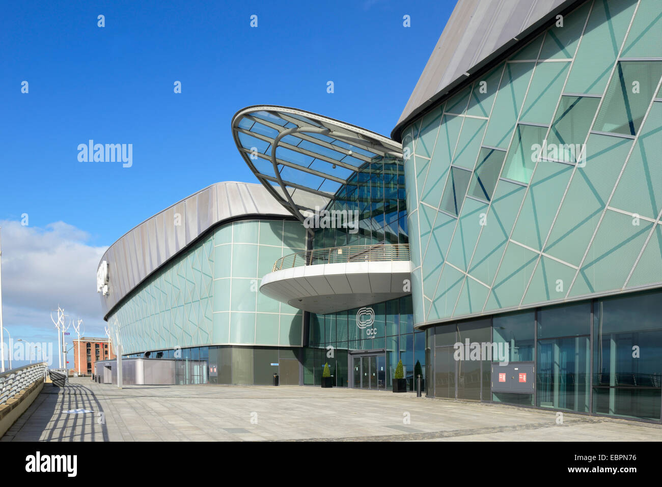 Echo Arena and BT Convention Centre, ACC Liverpool, Kings Dock, Liverpool, Merseyside, England, United Kingdom, - Stock Image