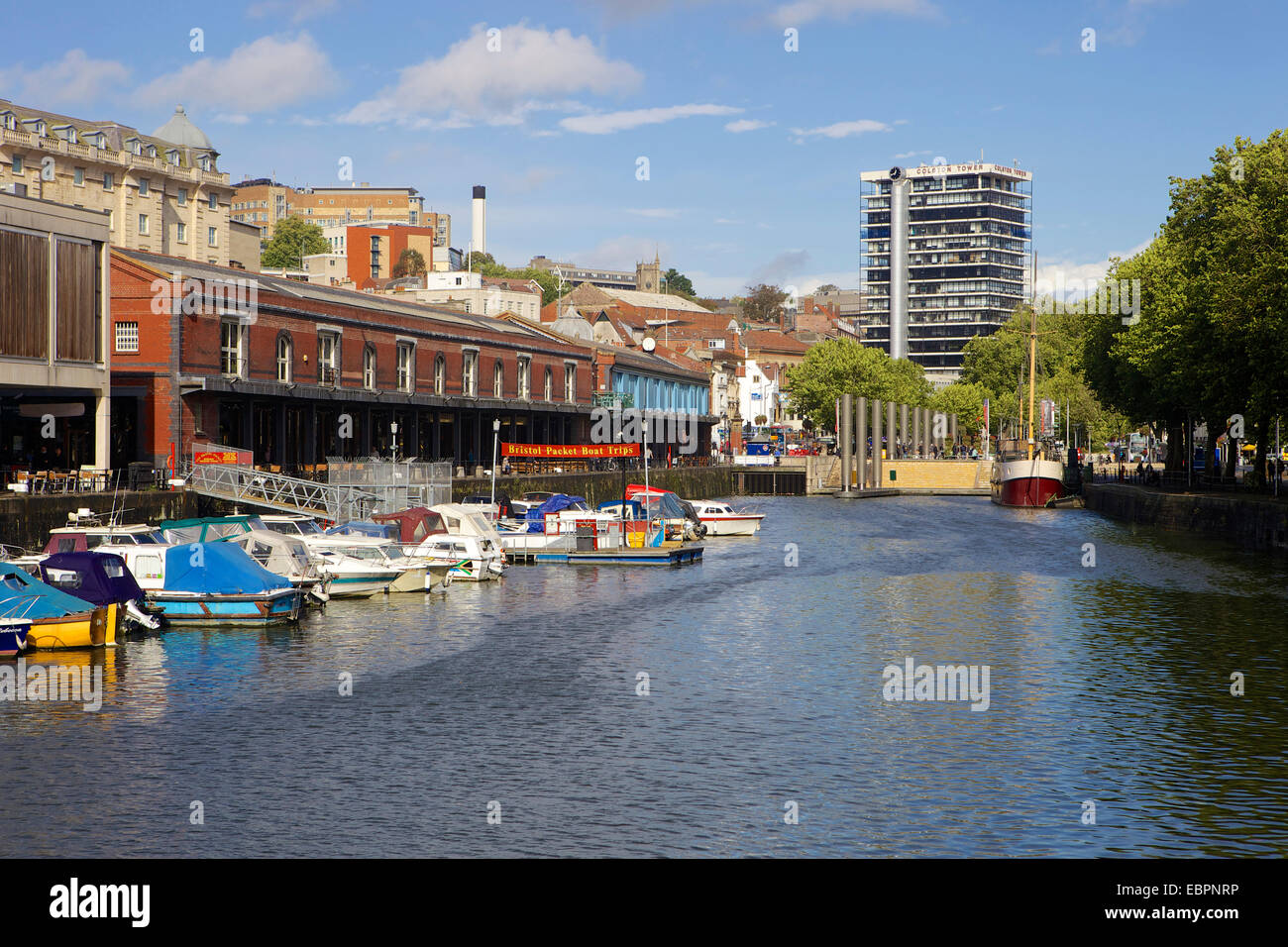 Bordeaux Quay and Watershed and Harbourside in Bristol, England, United Kingdom, Europe - Stock Image