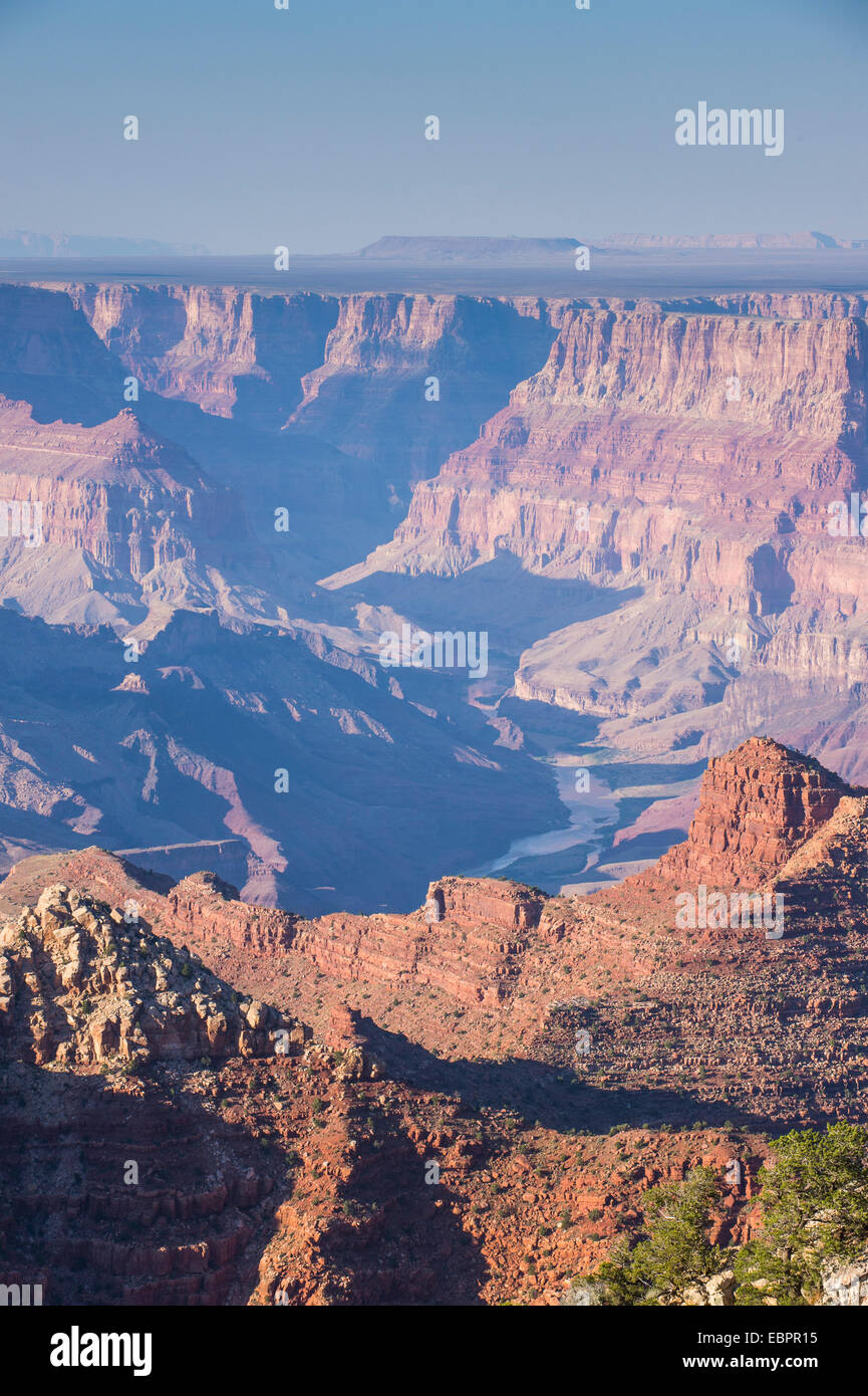 Desert view point over the Grand Canyon, UNESCO World Heritage Site, Arizona, United States of America, North America - Stock Image
