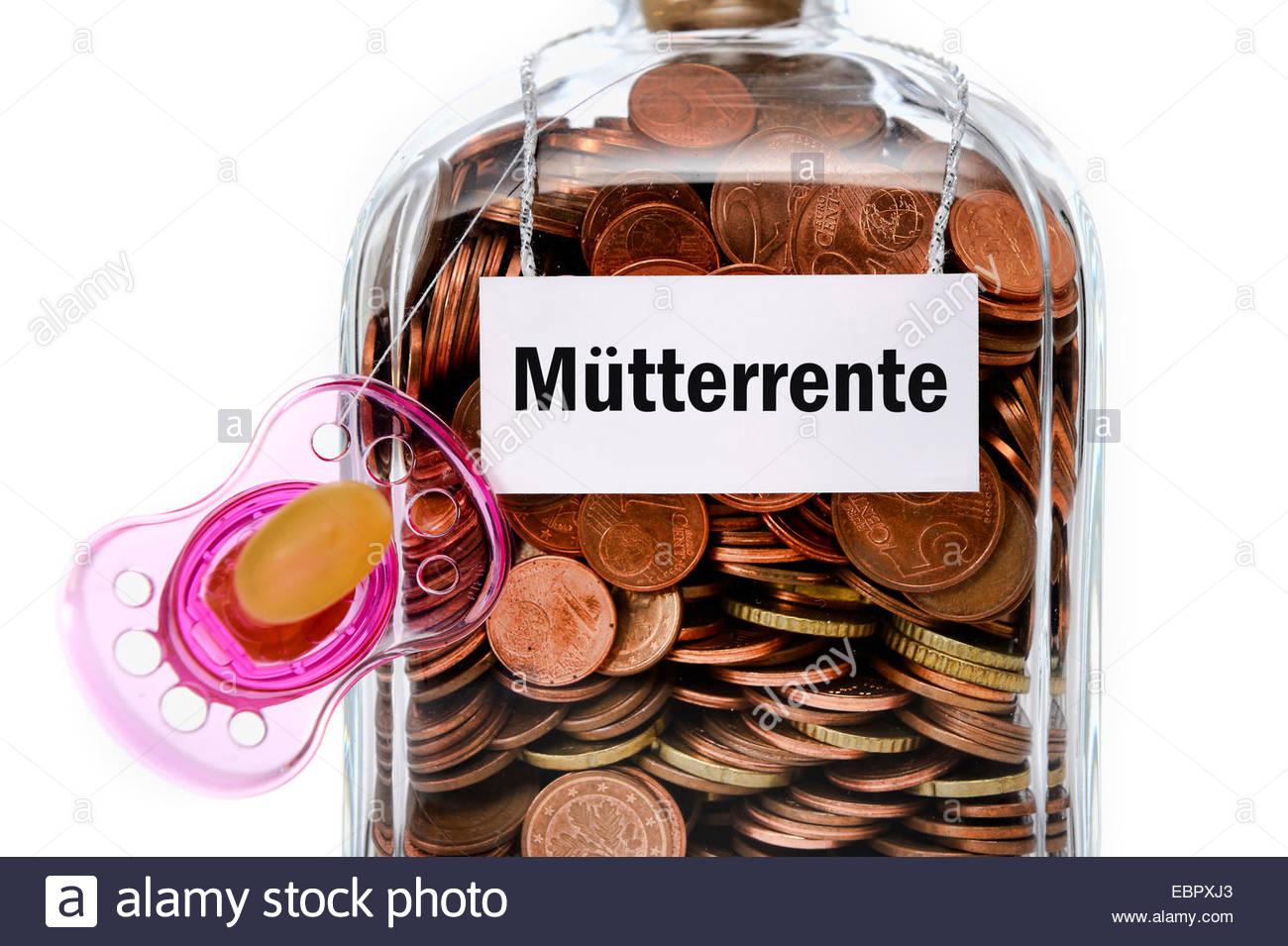 pension payment as appreciation for child management, Muetterrente, Bundesrepublik Deutschland - Stock Image